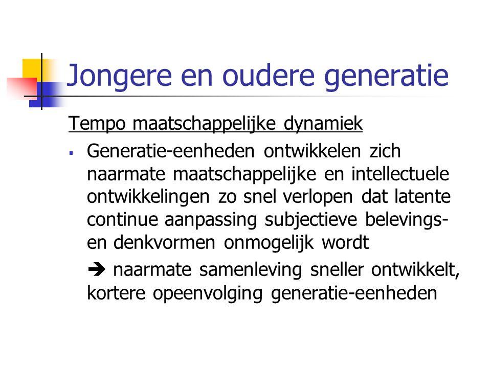 Jongere en oudere generatie