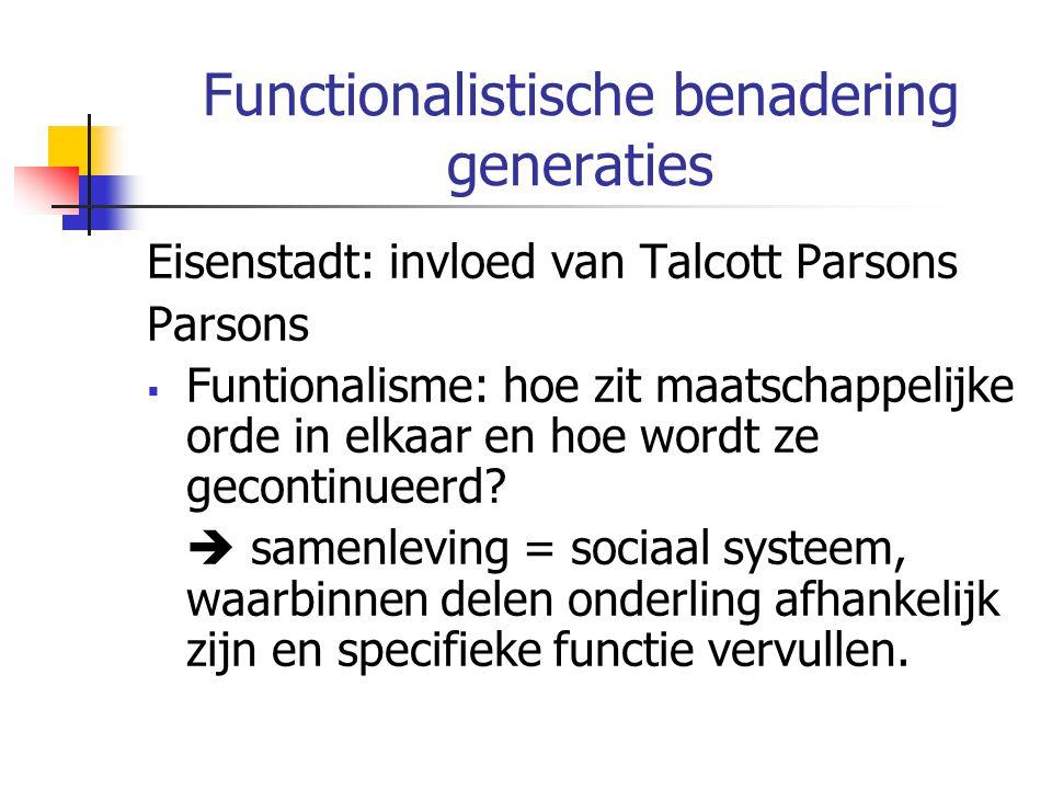 Functionalistische benadering generaties
