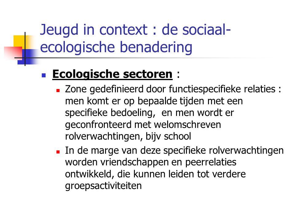 Jeugd in context : de sociaal-ecologische benadering