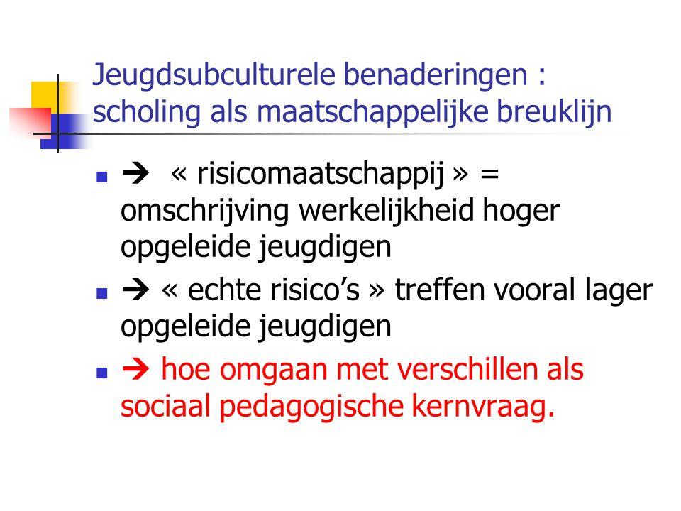 Jeugdsubculturele benaderingen : scholing als maatschappelijke breuklijn