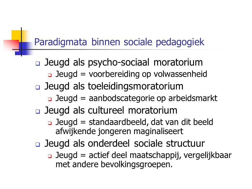 Paradigmata binnen sociale pedagogiek