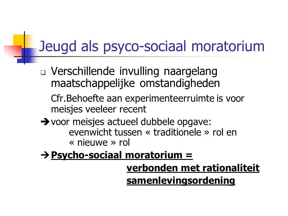 Jeugd als psyco-sociaal moratorium