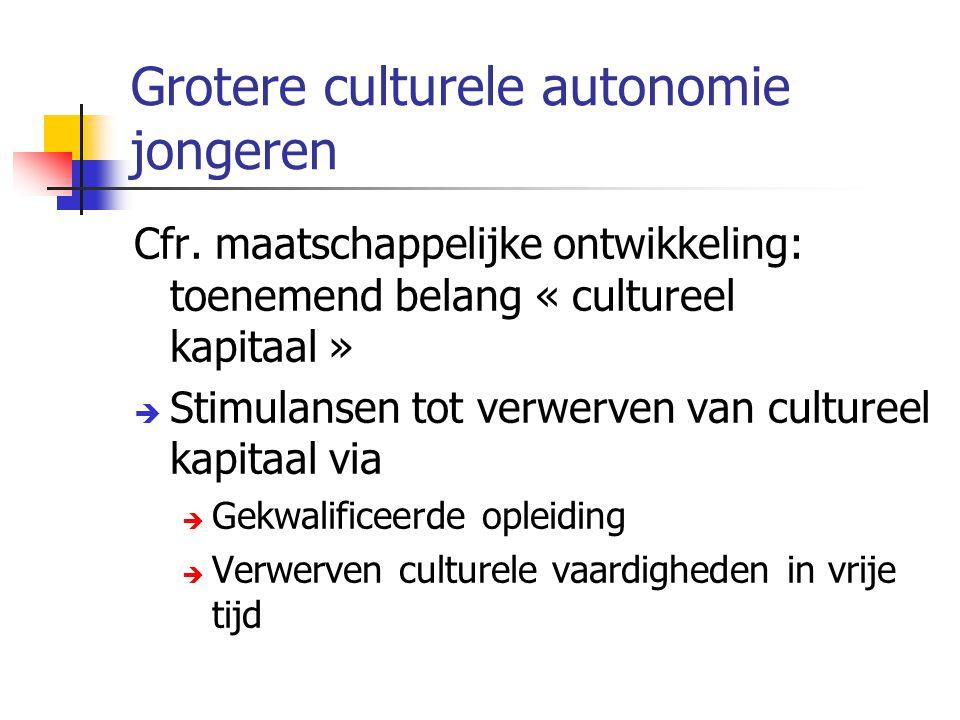 Grotere culturele autonomie jongeren