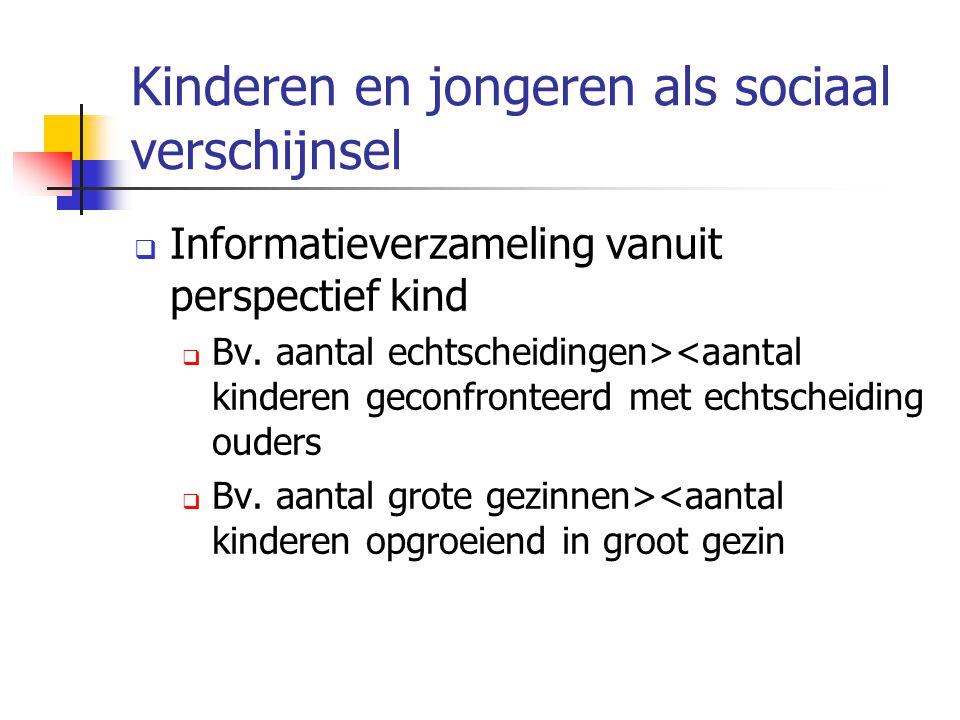 Kinderen en jongeren als sociaal verschijnsel