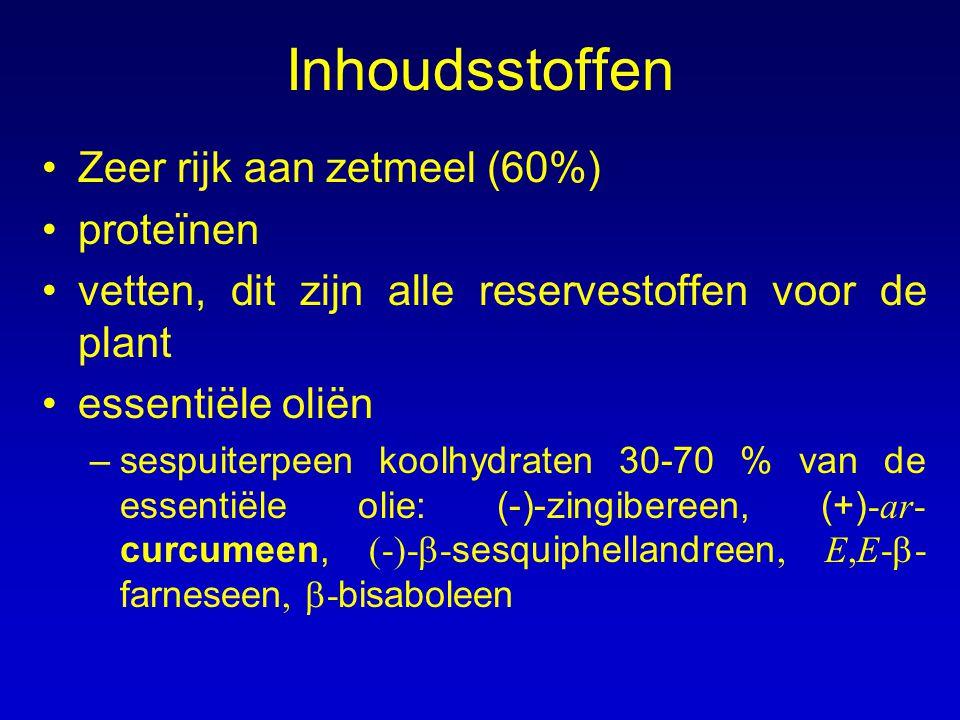 Inhoudsstoffen Zeer rijk aan zetmeel (60%) proteïnen