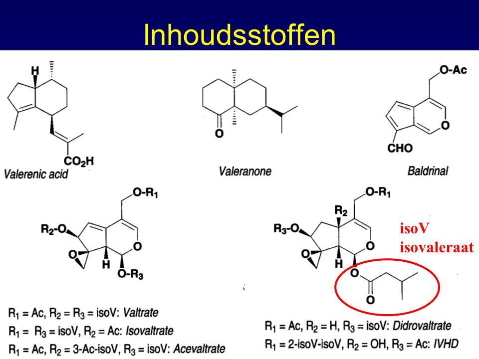 Inhoudsstoffen isoV isovaleraat