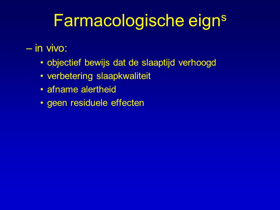 Farmacologische eigns