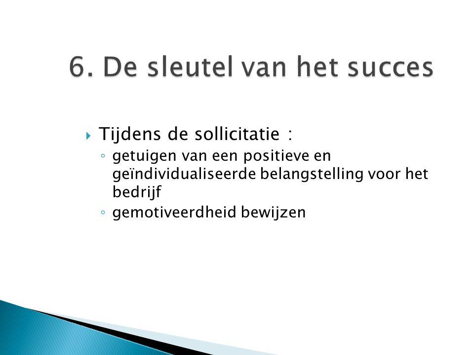 6. De sleutel van het succes