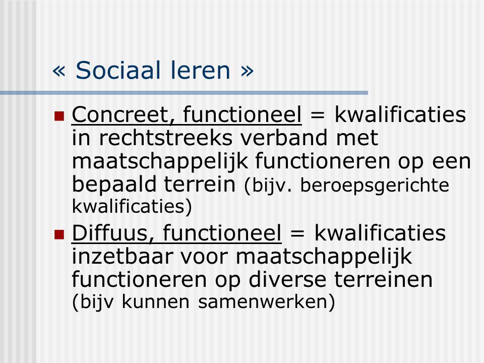 « Sociaal leren »
