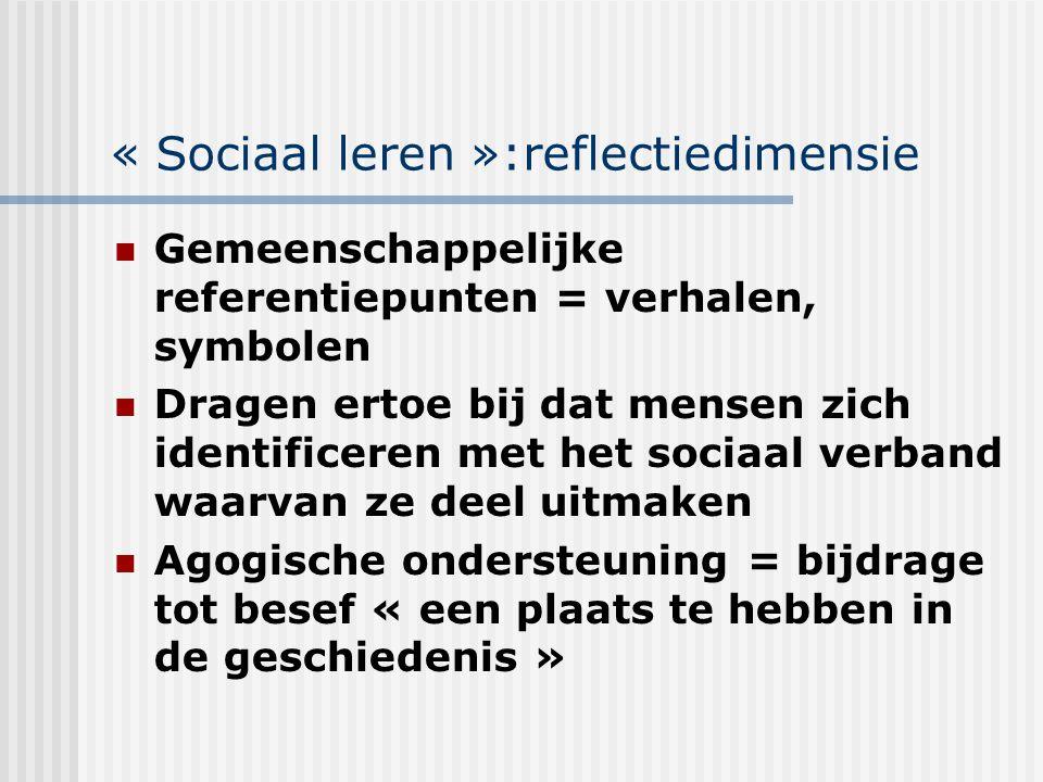 « Sociaal leren »:reflectiedimensie