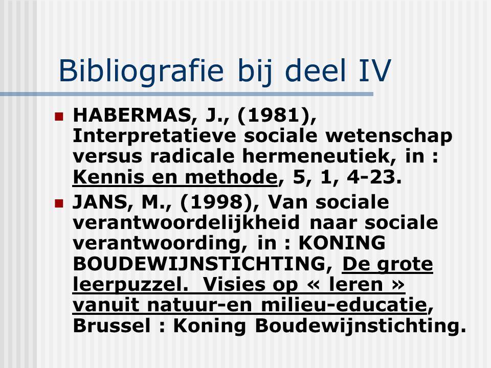 Bibliografie bij deel IV