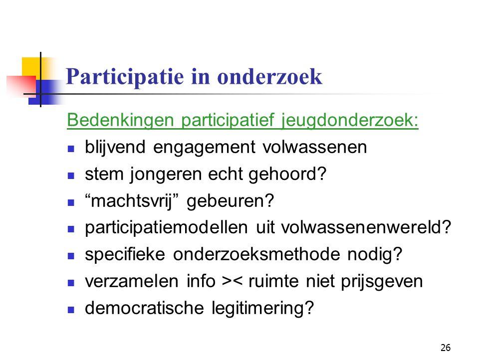 Participatie in onderzoek