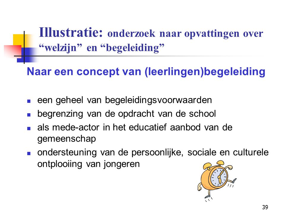 Illustratie: onderzoek naar opvattingen over welzijn en begeleiding