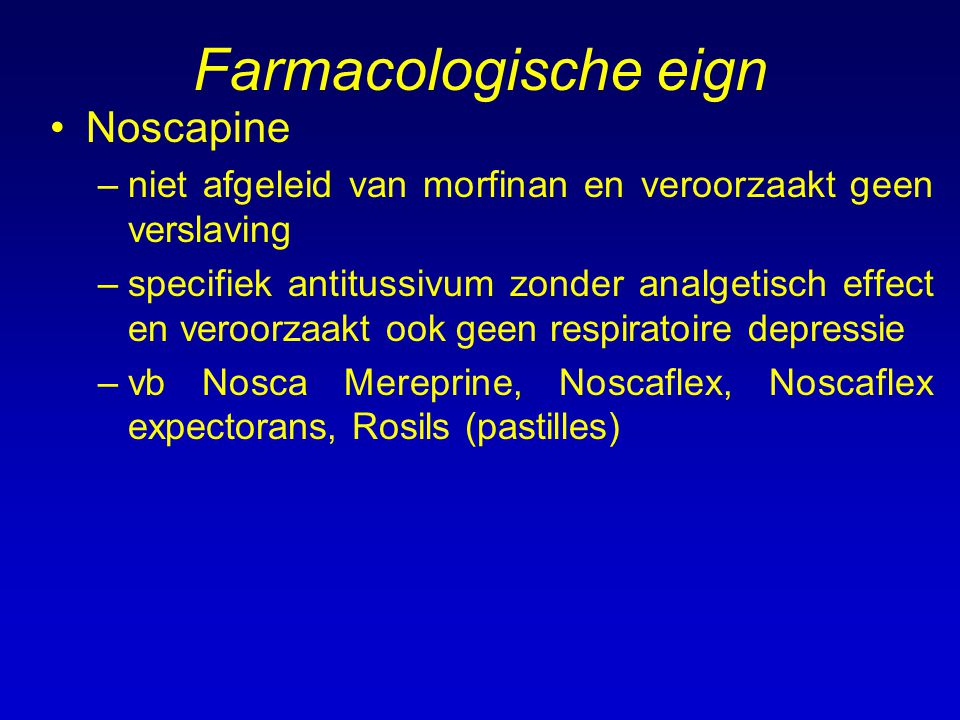 Farmacologische eign Noscapine