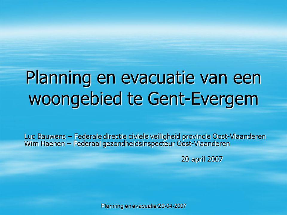 Planning en evacuatie van een woongebied te Gent-Evergem