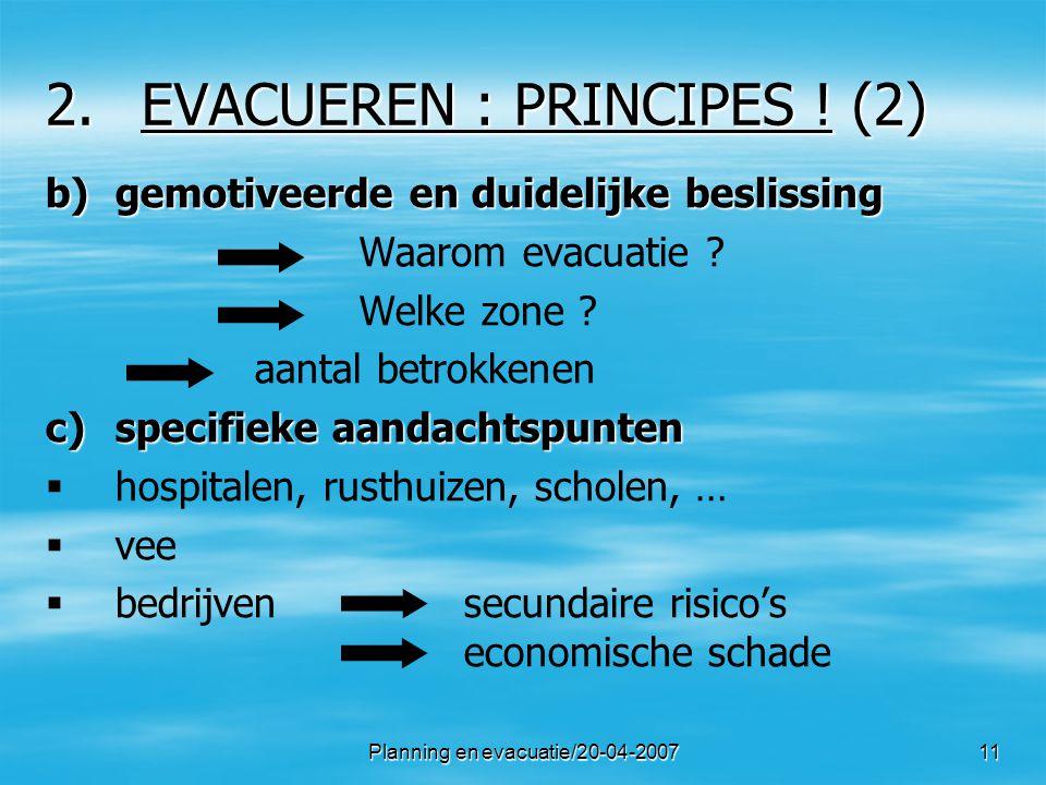 EVACUEREN : PRINCIPES ! (2)