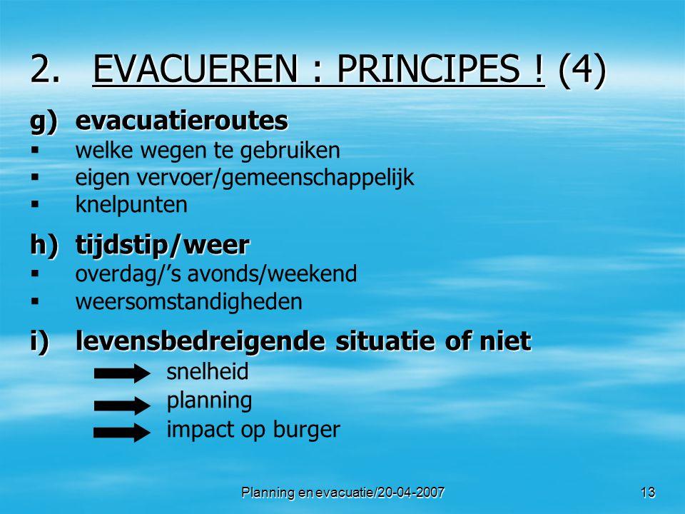 EVACUEREN : PRINCIPES ! (4)
