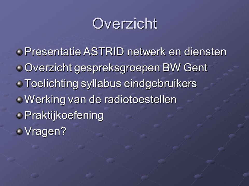 Overzicht Presentatie ASTRID netwerk en diensten