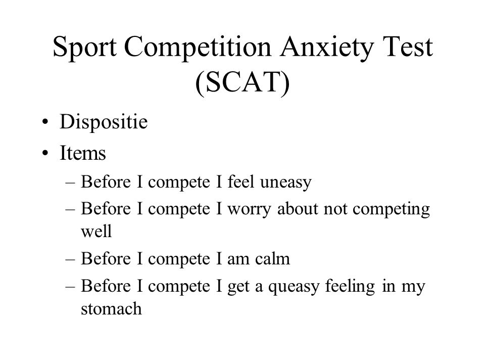Sport Competition Anxiety Test (SCAT)