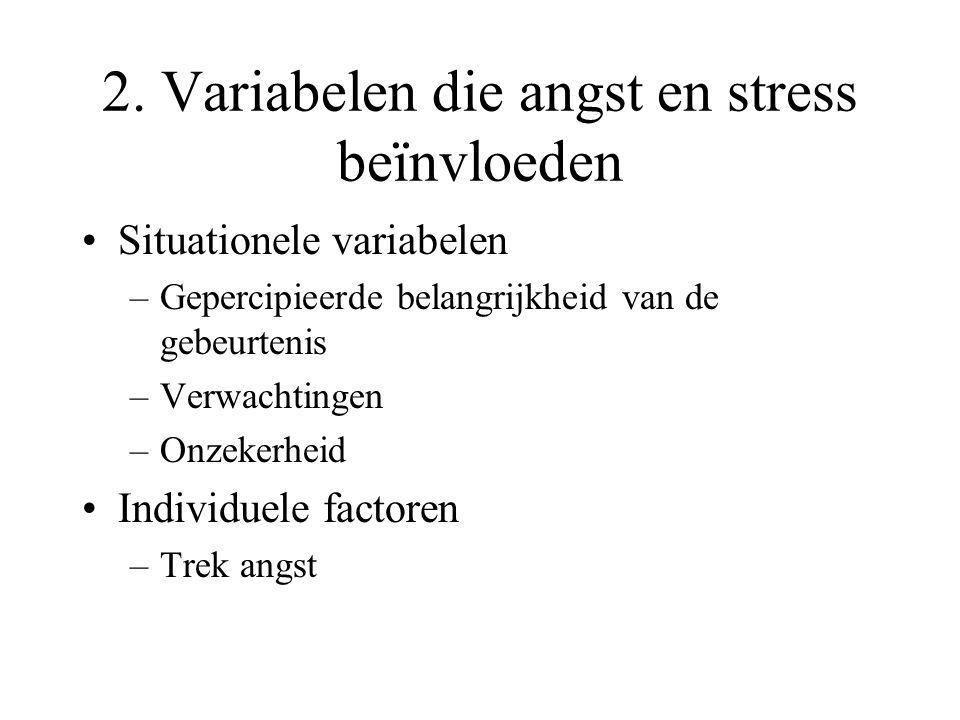 2. Variabelen die angst en stress beïnvloeden