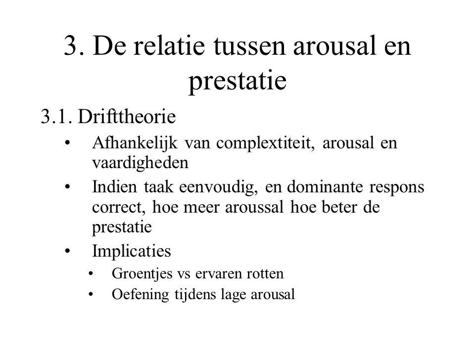 3. De relatie tussen arousal en prestatie