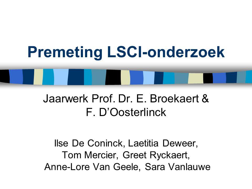 Premeting LSCI-onderzoek