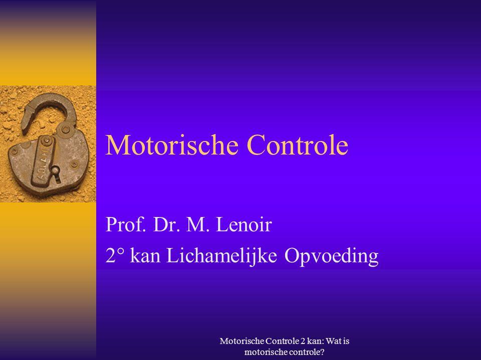 Prof. Dr. M. Lenoir 2° kan Lichamelijke Opvoeding
