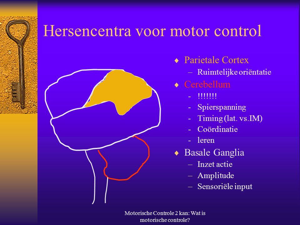 Hersencentra voor motor control
