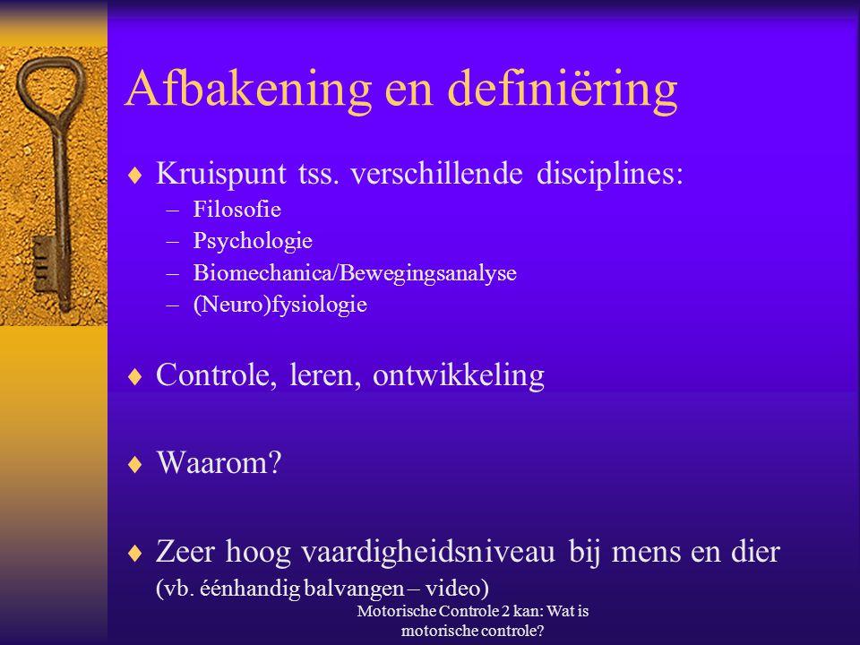Afbakening en definiëring