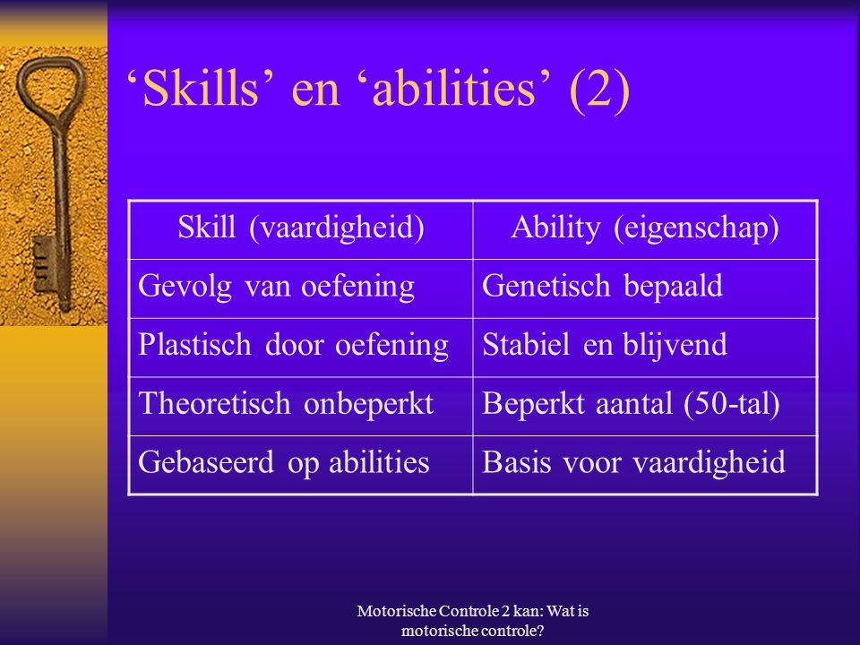 'Skills' en 'abilities' (2)