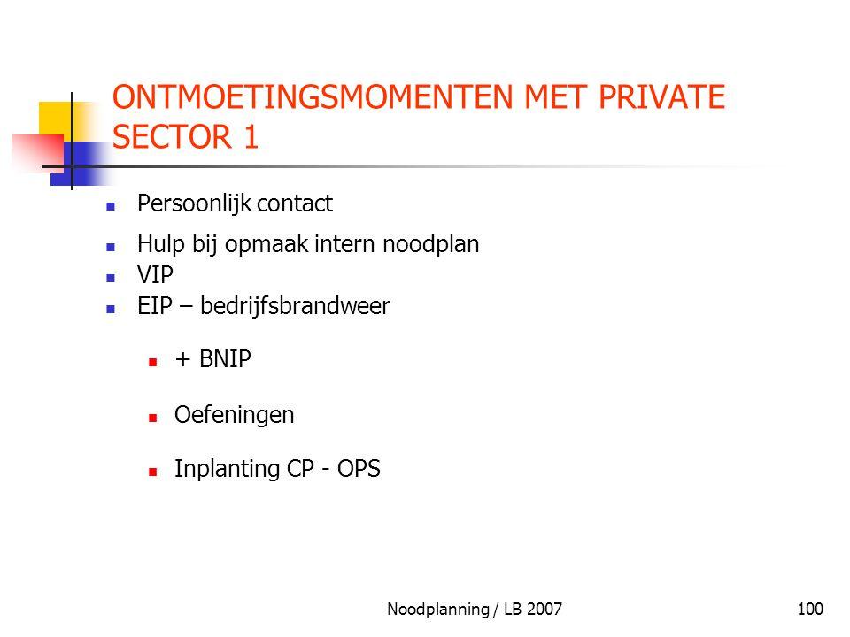 ONTMOETINGSMOMENTEN MET PRIVATE SECTOR 1