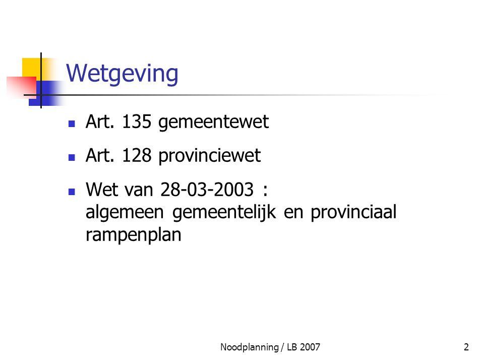 Wetgeving Art. 135 gemeentewet Art. 128 provinciewet