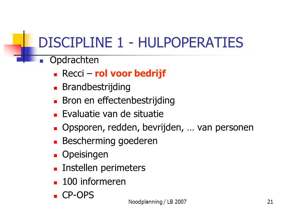 DISCIPLINE 1 - HULPOPERATIES