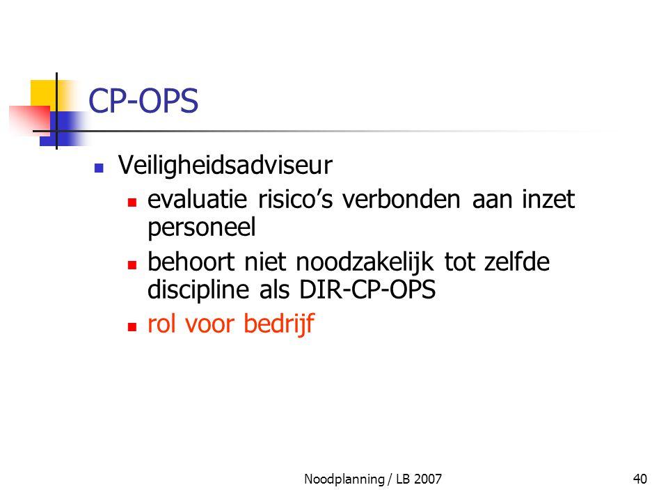 CP-OPS Veiligheidsadviseur