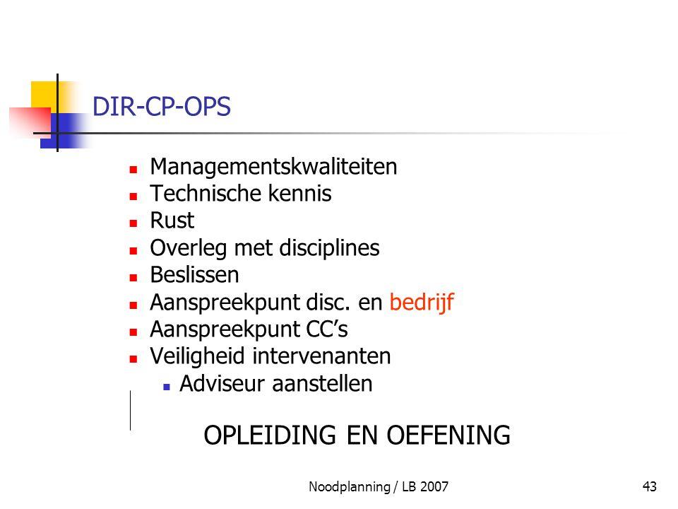 DIR-CP-OPS Managementskwaliteiten Technische kennis Rust