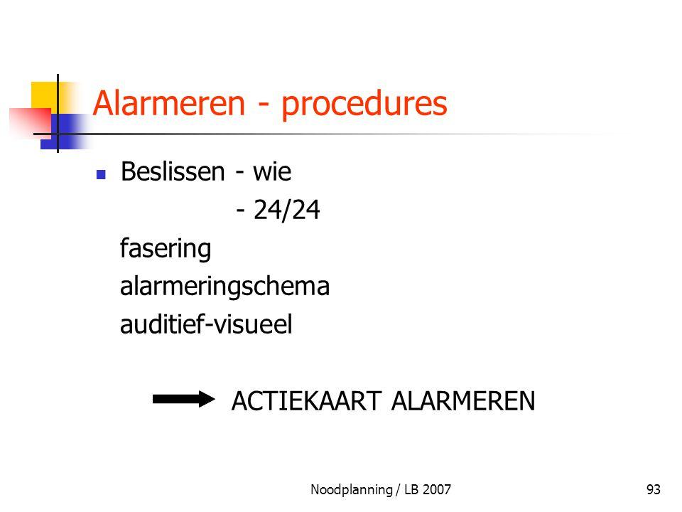 Alarmeren - procedures