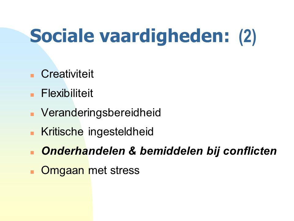 Sociale vaardigheden: (2)