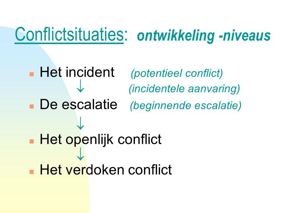 Conflictsituaties: ontwikkeling -niveaus