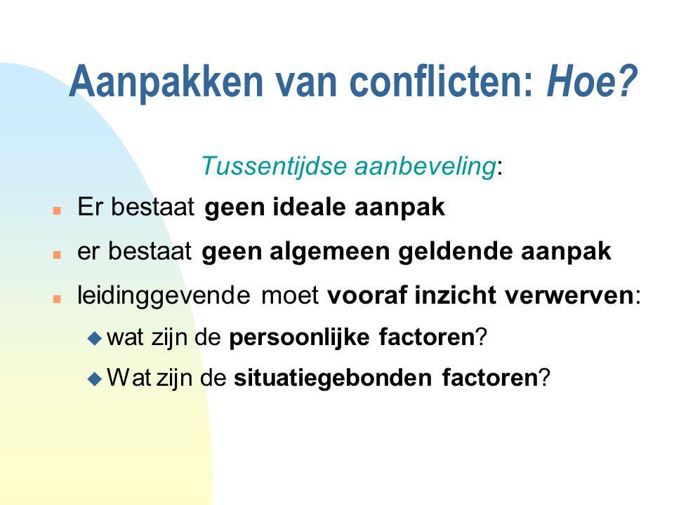 Aanpakken van conflicten: Hoe