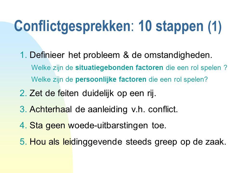 Conflictgesprekken: 10 stappen (1)