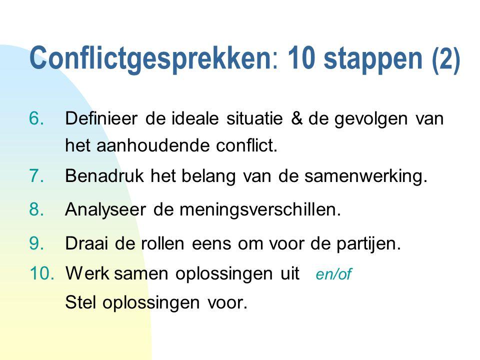 Conflictgesprekken: 10 stappen (2)