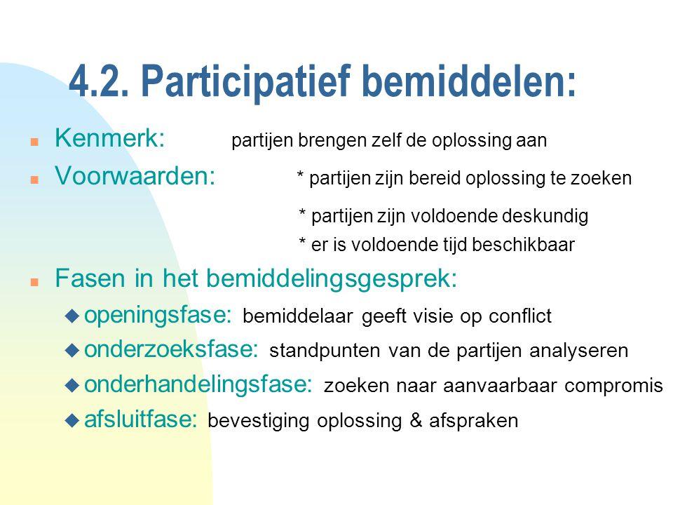 4.2. Participatief bemiddelen: