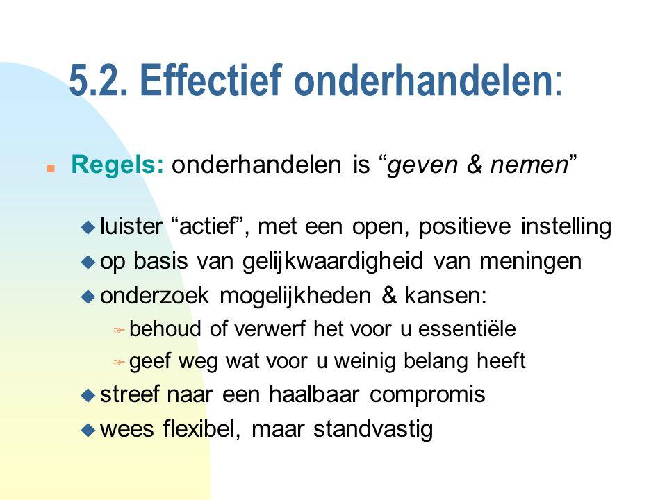 5.2. Effectief onderhandelen: