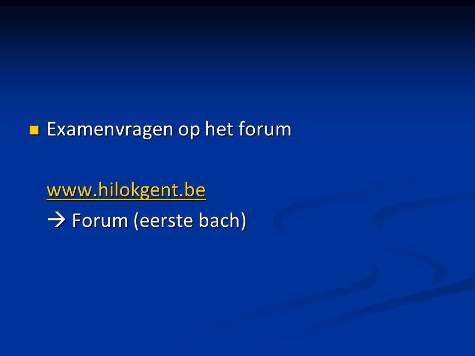 Examenvragen op het forum
