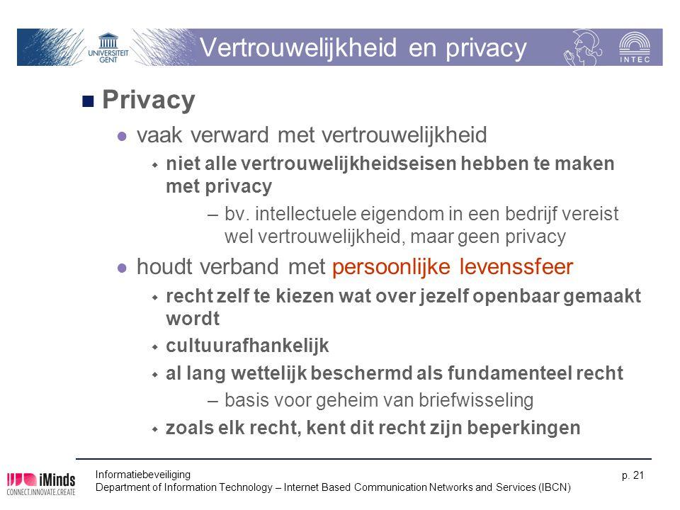Vertrouwelijkheid en privacy