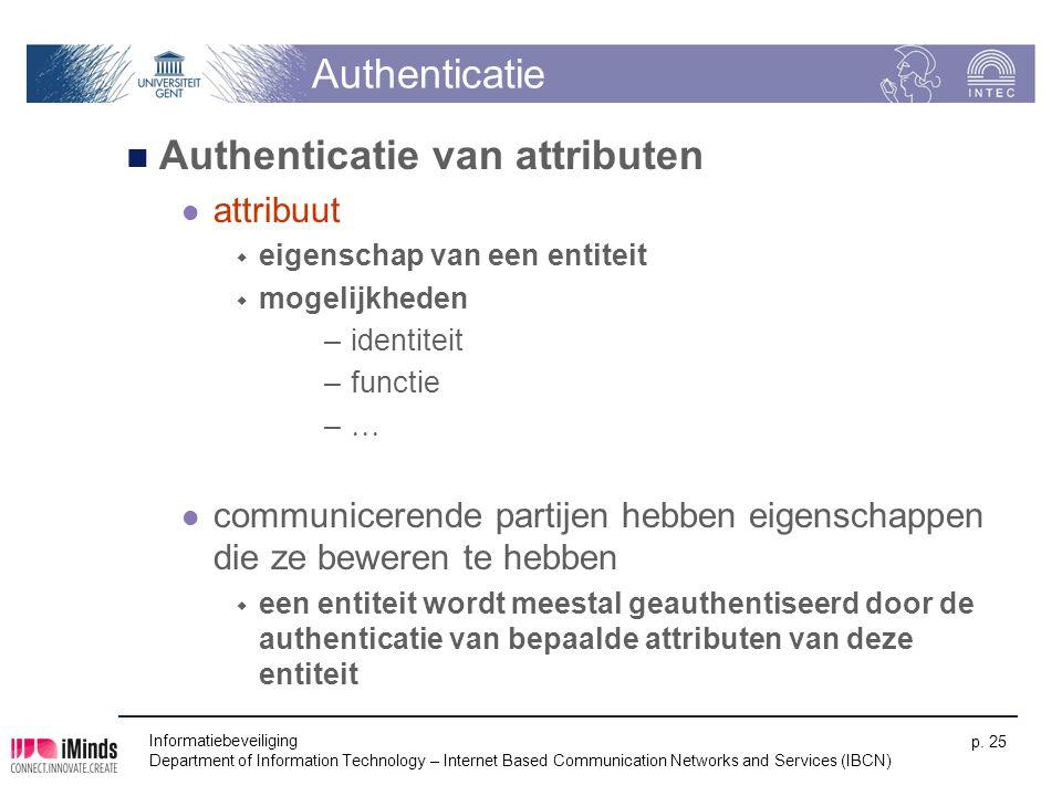 Authenticatie van attributen