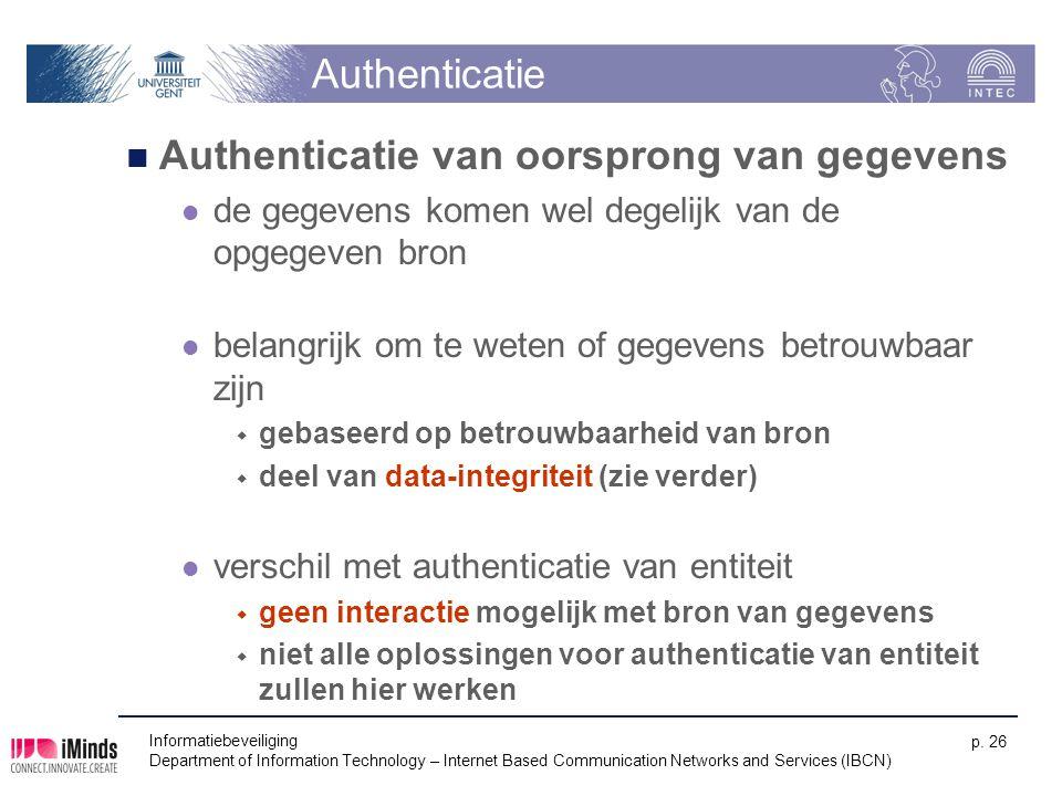 Authenticatie van oorsprong van gegevens