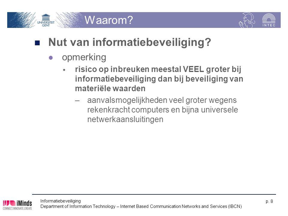 Nut van informatiebeveiliging