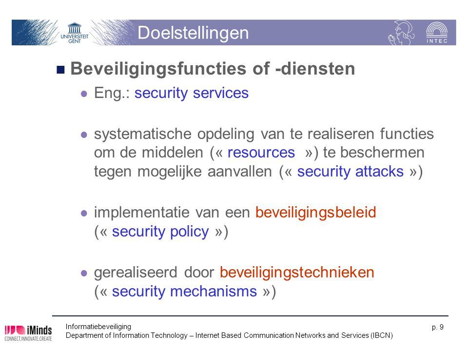 Beveiligingsfuncties of -diensten
