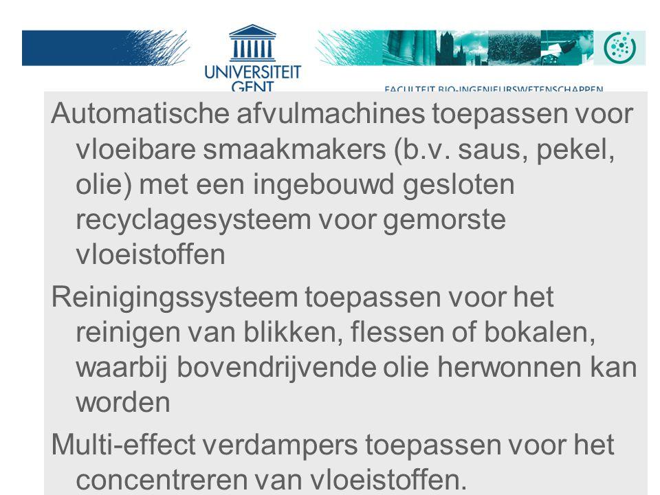 Automatische afvulmachines toepassen voor vloeibare smaakmakers (b. v